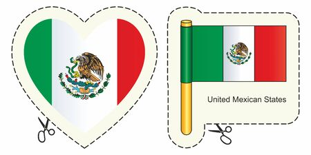 Mexico Flag. Can be used for design, stickers, souvenirs.