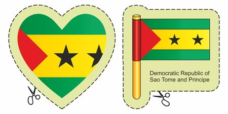 Flag of Sao Tome and Principe. Çizim