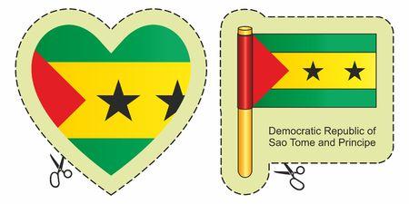 Flag of Sao Tome and Principe. Illustration
