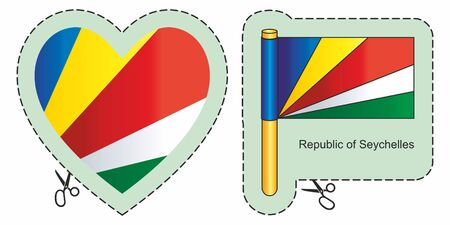 Flag of Seychelles. Иллюстрация