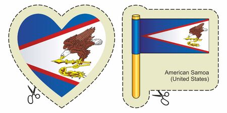 Flag of American Samoa illustration.
