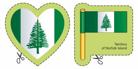 Flag of Norfolk Island. Ilustrace