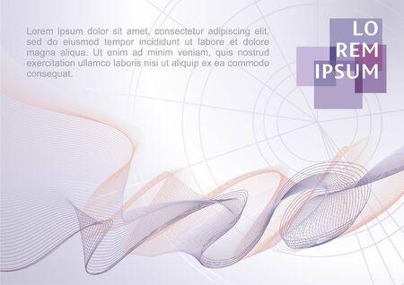 Abstracte moderne golfachtergrond. Vector achtergrond gemaakt van lijnen, geometrische abstracte achtergrond element lijn Stock Illustratie