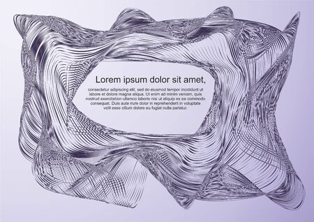 Abstract background, modern wave. Vector background made of lines, Template for text Banco de Imagens - 94595183