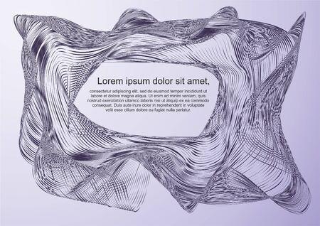 Abstracte achtergrond, moderne golf. Vector achtergrond gemaakt van lijnen, sjabloon voor tekst Stock Illustratie