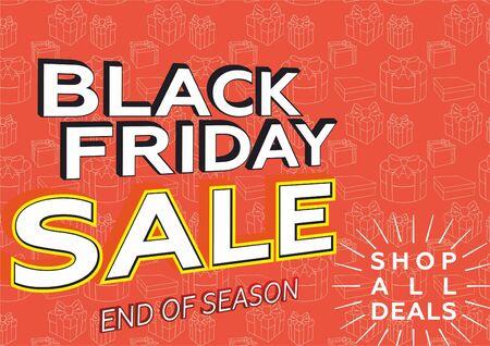 Black Friday sale banner layout design, poster design, price tag.