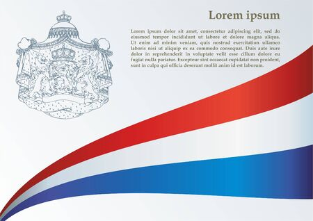 Flag of the Netherlands, Kingdom of the Netherlands. Bright, colorful vector illustration 矢量图像