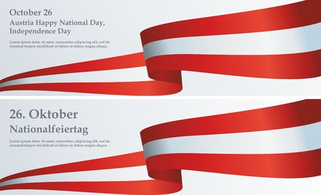 Flag of Austria, Declaration of Neutrality, Austria Independence Day, 26 October. Bright, colorful vector illustration Banque d'images - 96443850