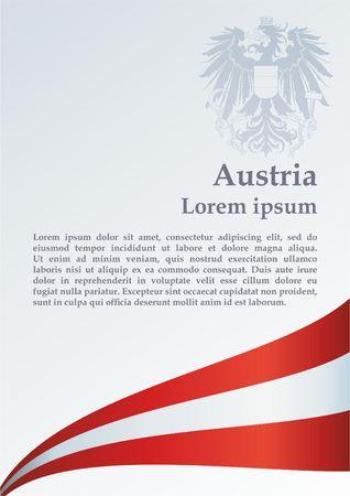 Flag of Austria, Bright, colorful vector illustration