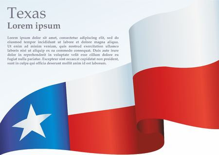 Texas flag. Template for the award, an official document with the flag of the state of Texas