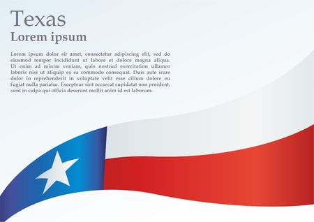 Texas flag. Template for the award, an official document with the flag of the state of Texas Standard-Bild - 97856953
