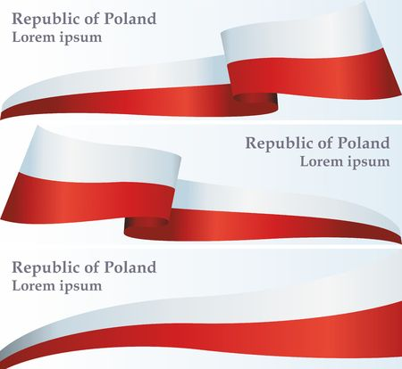 Flag of Poland, Polish flag, the template for the award, an official document with the flag and symbol of the Republic of Poland  イラスト・ベクター素材