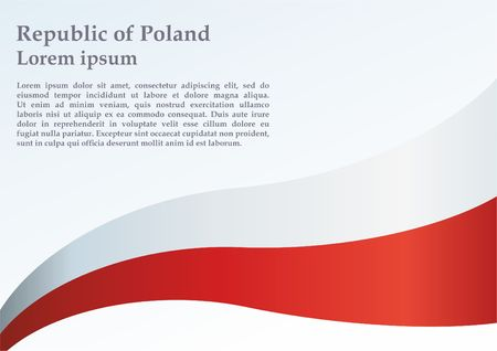 Flag of Poland, Polish flag, the template for the award, an official document with the flag and symbol of the Republic of Poland Illustration
