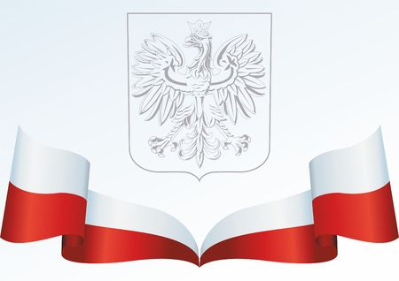 Flag of Poland, Polish flag, the template for the award, an official document with the flag and the symbol of the Republic of Poland