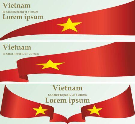 Flag of Vietnam, Socialist Republic of Vietnam, template for award design, an official document with the flag of the Socialist Republic Of Vietnam