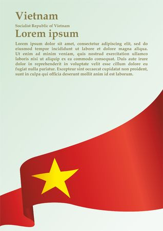 Flag of Vietnam, Socialist Republic of Vietnam, template for award design, an official document with the flag of the Socialist Republic Of Vietnam Stock fotó - 98413923