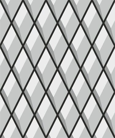 Triangular seamless lattice pattern background.