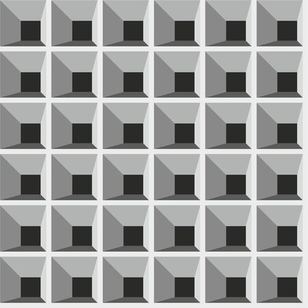 Squares, seamless lattice pattern. Vector background.