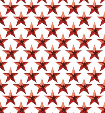 Stars seamless lattice pattern. Vector background.