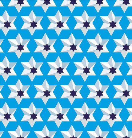 Grating star, seamless lattice pattern background.
