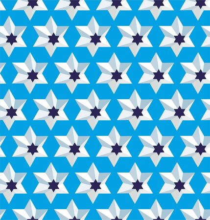 Grating star, seamless lattice pattern background.