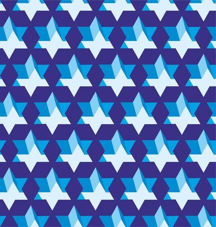Grating stars in seamless lattice pattern background. 向量圖像
