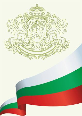 Flag of Bulgaria, Republic of Bulgaria. Bright, colorful vector illustration Illustration