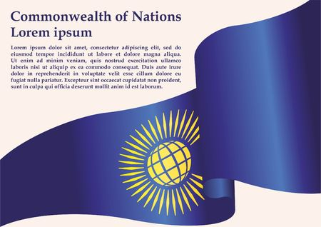 Flag of the Commonwealth of Nations, Commonwealth of Nations, British Commonwealth. Bright, colorful vector illustration