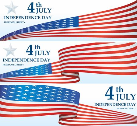Independence Day USA, 4 th july, Happy Independence day. The American flag, The Stars and Stripes, Bright, colorful vector illustration Illustration
