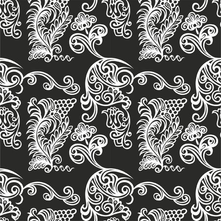 Seamless Old Russian pattern. Use as tiled pattern, background, wallpaper, textile design, for covers, invitations and other design elements. Illusztráció