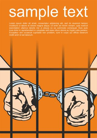 Handcuffs. Detention of the criminal. Vector illustration.