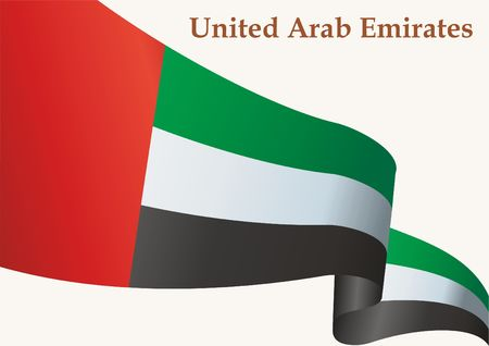 Flag of the United Arab Emirates, United Arab Emirates. Template for award design, an official document with the flag of the United Arab Emirates. Bright, colorful vector illustration