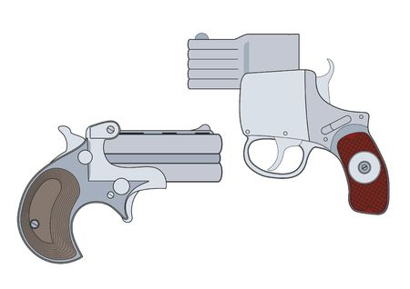 Firearms, Shooting gun, handgun, vector illustration Illustration