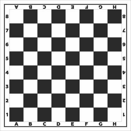 Chess board, vector illustration.
