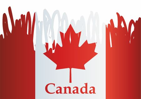 Flag of Canada Bright, colorful vector illustration 写真素材 - 113421271