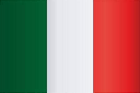 Flag of Italy, Italian Republic. Template for the design of the flag of Italy. Bright, colorful vector illustration. Illustration