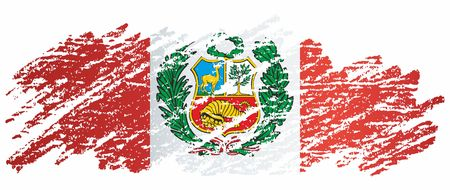 Flag of Peru, Republic of Peru. The flag of Peru. Bright, colorful vector illustration