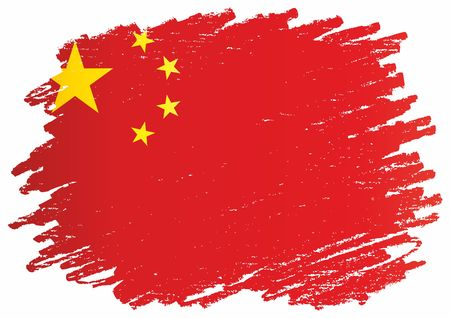 Flag of China, Peoples Republic of China, East Asia. The flag of China. Bright, colorful vector illustration. 일러스트