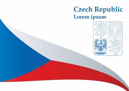 Flagge der Tschechischen Republik, Tschechien. Flagge der Tschechischen Republik. Helle, bunte Vektorillustration. Vektorgrafik