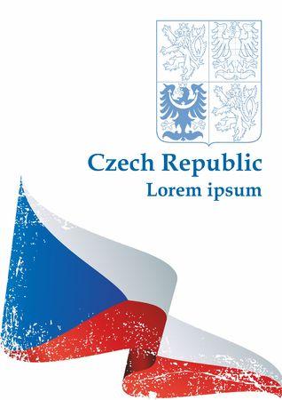 Flag of the Czech Republic, Czech Republic. Flag of the Czech Republic. Bright, colorful vector illustration.
