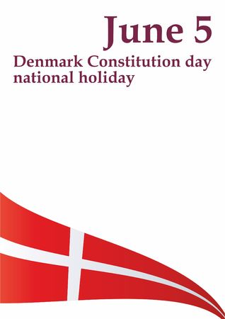 Flag of Denmark, Denmark. Template for the design of the flag of Denmark. Bright, colorful vector illustration.
