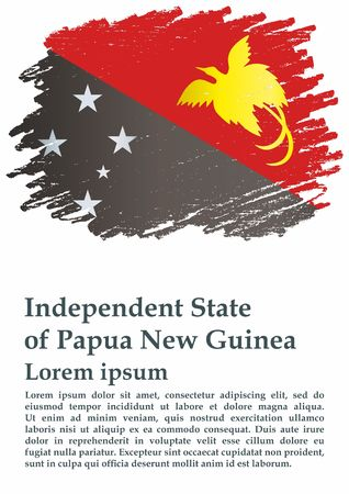 Flag of Papua New Guinea, Independent State of Papua New Guinea. Flag of Papua New Guinea. Bright, colorful vector illustration.