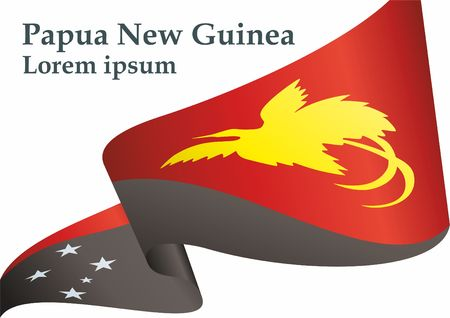 Flag of Papua New Guinea, Independent State of Papua New Guinea. Flag of Papua New Guinea. Bright, colorful vector illustration. Vector Illustration