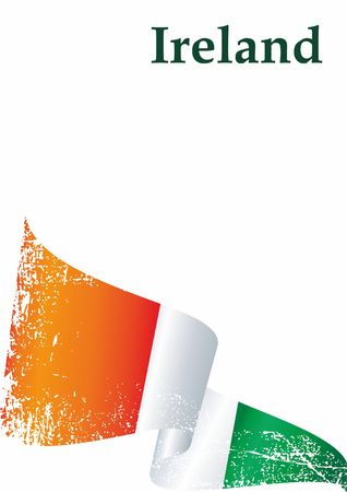 Flag of Ireland, Republic of Ireland. The flag of Ireland is a template for an award design. Bright, colorful vector illustration. Illustration