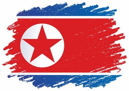 Flag of North Korea, Democratic Peoples Republic of Korea. Bright, colorful vector illustration.