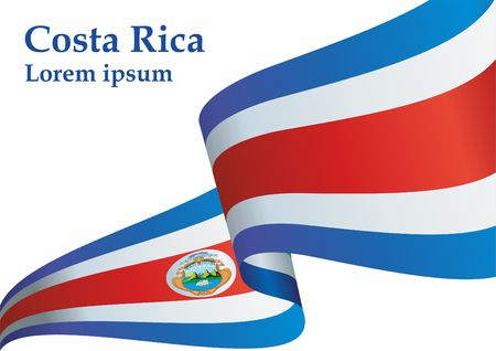 Flag of Costa Rica, Republic of Costa Rica. Flag of Costa Rica. Bright, colorful vector illustration.