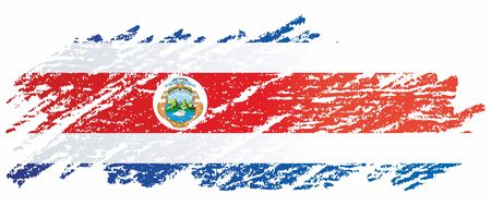 Flag of Costa Rica, Republic of Costa Rica. Flag of Costa Rica. Bright, colorful vector illustration.