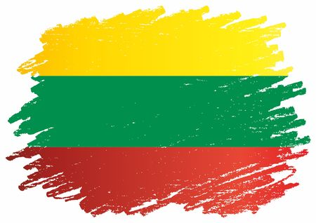 Flag of Lithuania, Republic of Lithuania. The flag of Lithuania. Bright, colorful vector illustration. Ilustração