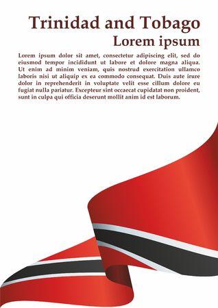 Flag of Trinidad and Tobago, Republic of Trinidad and Tobago. Trinidad and Tobago. Bright, colorful vector illustration. 일러스트
