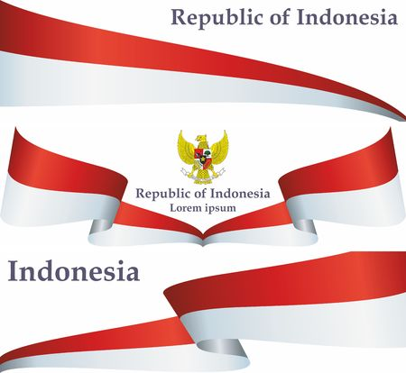 Flag of Indonesia, Republic of Indonesia. The flag of Indonesia. Bright, colorful vector illustration